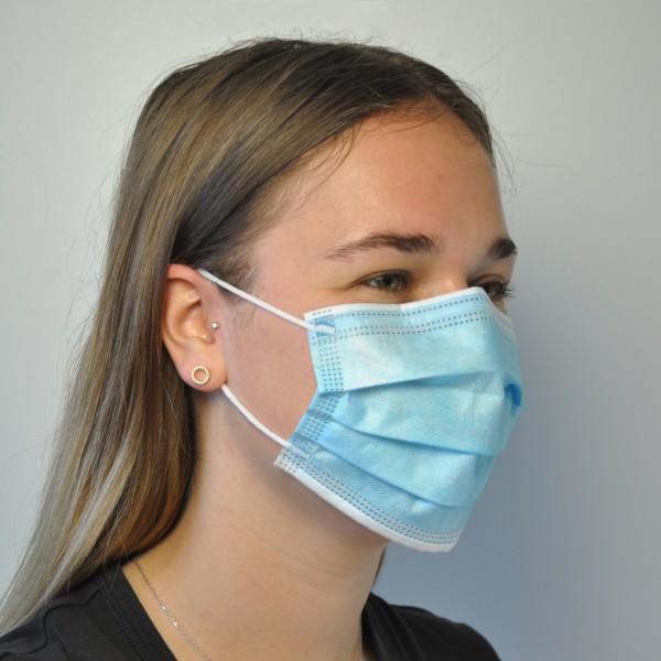 Mund-Nasen-Schutzmaske Typ IIR, BFE >98%, CE-zertifiziert, VE 50