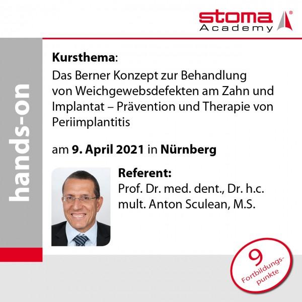 Prof. Sculean   09.04.2021 in Nürnberg   Das Berner Konzept zur Behandlung von ...