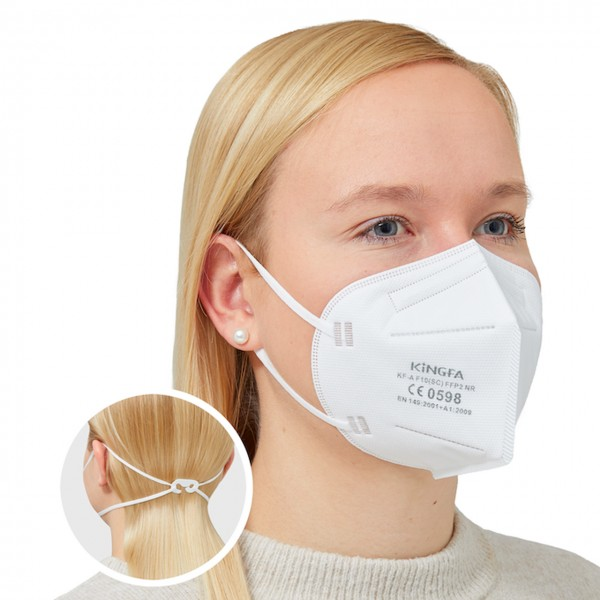 Schutzmaske FFP2 NR, BFE >94%, Kingfa, CE-zertifiziert, einzelverpackt, VE 6