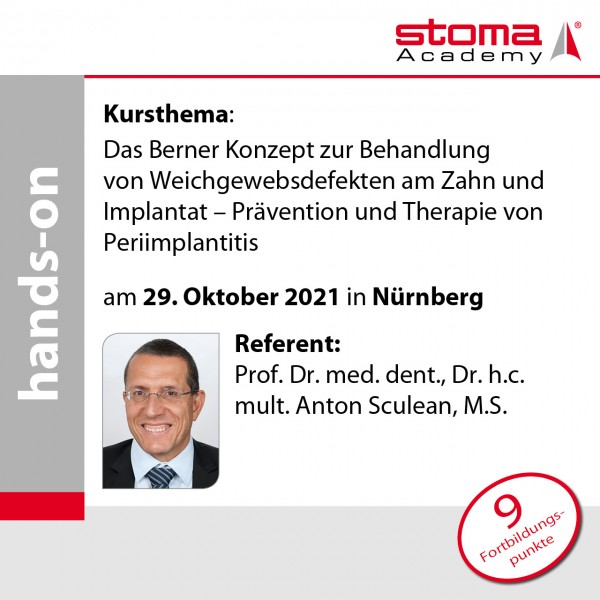 Prof. Sculean | 29.10.2021 in Nürnberg | Das Berner Konzept zur Behandlung von ...