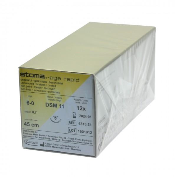 PGA rapid DSM 11, 6-0, 45 cm, 1 Dutzend