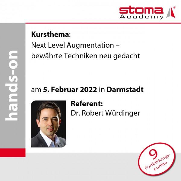 Dr. Robert Würdinger | 05.02.2022 in Darmstadt | Next Level Augmentation – bewährte Techniken neu ..