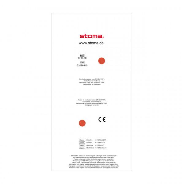 Einweg-Papierfilter, für Container, 121 x 240 mm, 100 Stück
