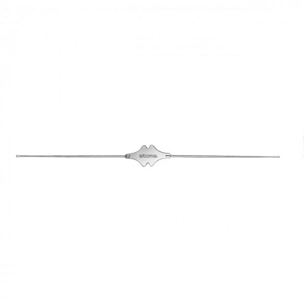 Fistelsonde, Neusilber, 13 cm
