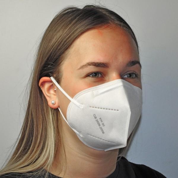 Schutzmaske KN95 (≙ FFP2), BFE >95%, CE-zertifiziert, VE 20